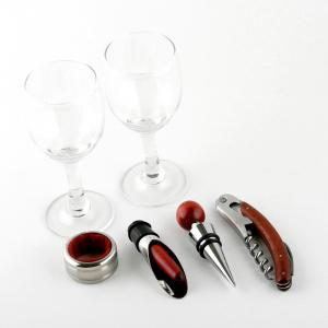 Cutie dubla de vin din lemn cu accesorii si capac transparent2
