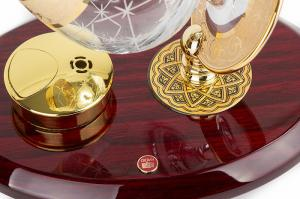Set Încălzitor de Cognac de Lux by Credan si Butoni Gold Round by Credan4