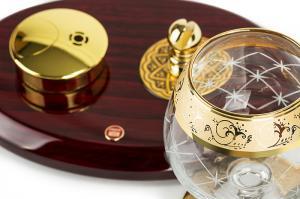 Set Încălzitor de Cognac de Lux by Credan si Butoni Gold Round by Credan3