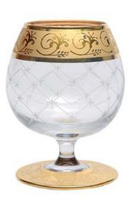 Set Încălzitor de Cognac Power Horse by Credan si Butoni Gold Round by Credan2