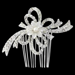 Agrafa Borealy Pearl Flower Mireasa2