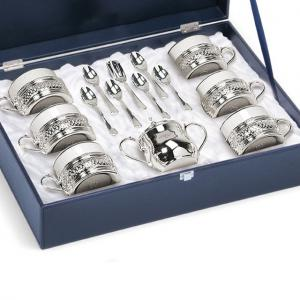American Coffee Set Silver by Chinelli - Made in Italy1