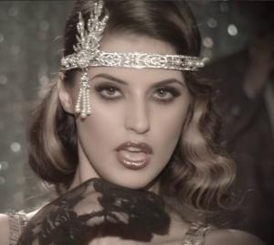 Tiara Borealy Pearls Silk Great Gatsby Luxury Headband1