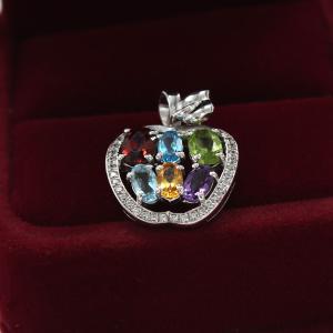 Colier Apple Precious - Pietre Preţioase Naturale Argint 9252