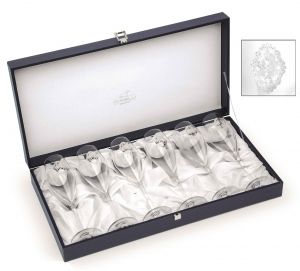 Arabesque Spumante Set 6 Glasses Champagne Silver Plated by Chinelli - made in Italy