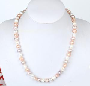 Baroque Freshwater Perle Necklace 10 mm AA1