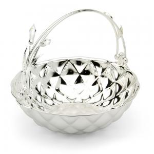Basket Fruit Bowl Silver Plated by Chinelli - made in Italy