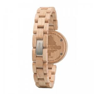 Mimosa Beige Wood Watch for Women - Ceas 100% din lemn lucrat manual2