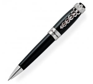 Set Caduceus Black Ballpoint Pen by Montegrappa si Note Pad Black Hugo Boss3
