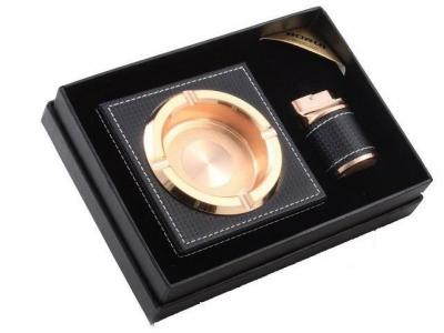 Black Leather Smoking Set & Glenfiddich Gift Set2