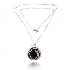 Black Delice Onix Set Medalion si cercei3