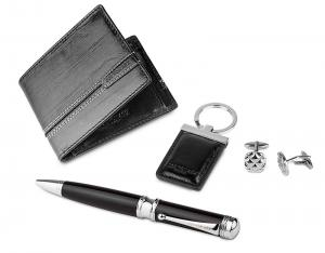 Black Leather Accessories Set for Men by Jos von Arx1
