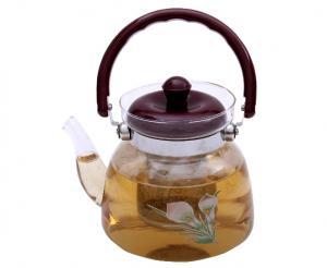 Ceai Floare Jasmine & Lilly Blooming flower cu ceainic sticla de lux2