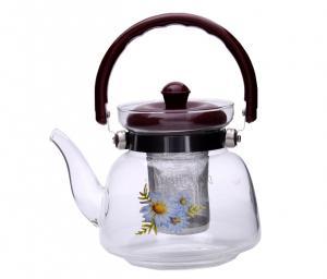 Ceai Floare Jasmine & Lilly Blooming flower cu ceainic sticla de lux3