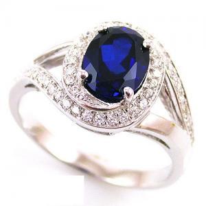 Inel Blue Safir by Borealy Argint 9254