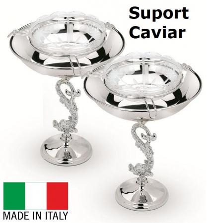 Bol Pentru Caviar placat cu argint Chinelli - Made in Italy0