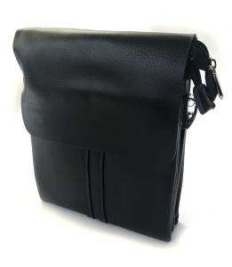 Borseta piele naturala negru/maro si portofel piele naturala - personalizabil1