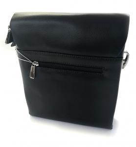 Borseta piele naturala negru/maro si portofel piele naturala - personalizabil2
