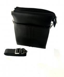 Borseta piele naturala negru/maro si portofel piele naturala - personalizabil4