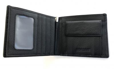 Borseta piele naturala negru/maro si portofel piele naturala - personalizabil3