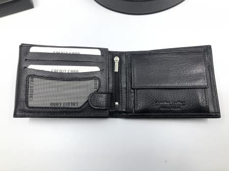 Borseta si portofel din piele naturala - personalizabile, negru7