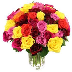Buchet 49 trandafiri cu vaza0