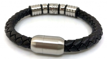 Brăţară Barbati Black Leather3