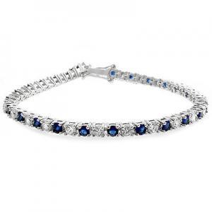 Brăţară Tennis Classic 10 carate Simulated Diamonds & Blue Sapphire by Borealy0
