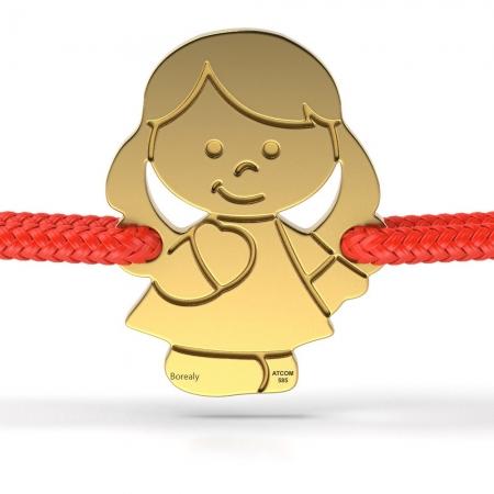 Bratara Fetita din Aur galben 14 kt personalizabila