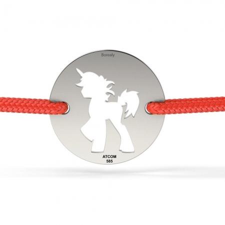 Bratara Unicorn Decupat din Argint 925 personalizabila