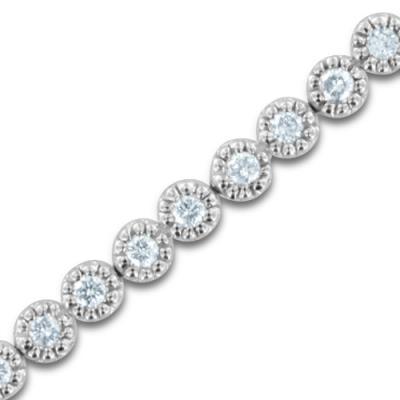 Brăţară Borealy Milgrain Tennis - Simulated Diamonds Intense [0]