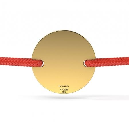 Bratara Banut Aur galben 14 kt personalizabila