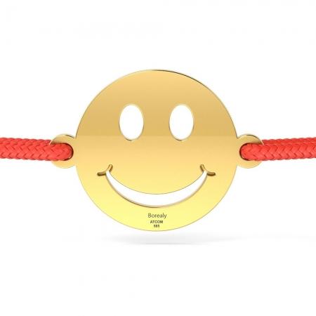 Bratara Smiley din Aur galben 14 kt personalizabila