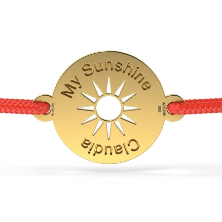 Bratara My Sunshine din Aur galben 14 kt personalizabila