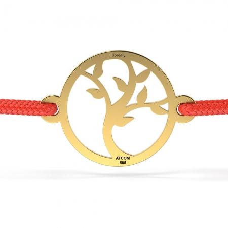 Bratara Pomul Vietii din Aur galben 14 kt personalizabila