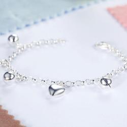 Bratara pentru Copii Borealy Argint 925 Triple Heart3
