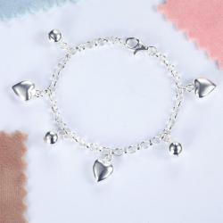 Bratara pentru Copii Borealy Argint 925 Triple Heart2