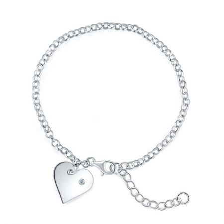 Bratara Personalizabila Argint 925 Pretty Heart,  by Borealy