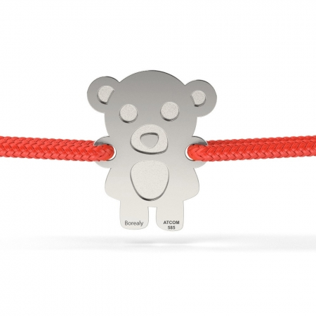 Bratara Teddy Bear din Argint 925 personalizabila