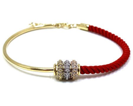 Bratara  Luxury Zero Snur Rosu - Valentine's Day0
