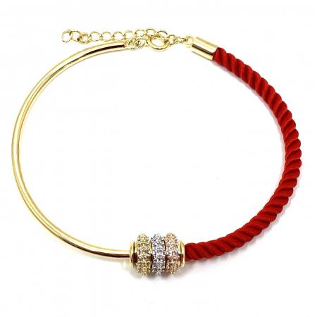 Bratara  Luxury Zero Snur Rosu - Valentine's Day1