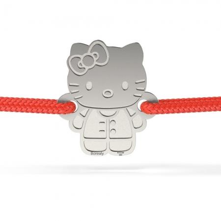 Bratara Hello Kitty din Argint 925 personalizabila
