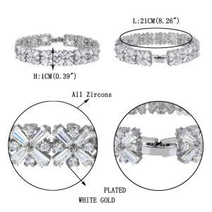 Brăţară Borealy Diamonds Square Accent2
