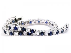 Brăţară Tennis Classic 10 carate Simulated Diamonds & Blue Sapphire by Borealy3