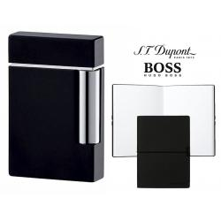 Set Bricheta Dupont Ligne 8 Black Lacquer si Note Pad Black Hugo Boss