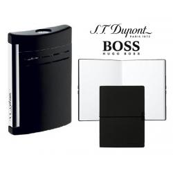 Set Bricheta S.T.Dupont Maxijet Lac Negru si Note Pad Black Hugo Boss