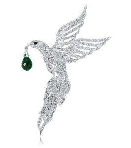 Broşă Eagle Emerald Drop by Borealy0