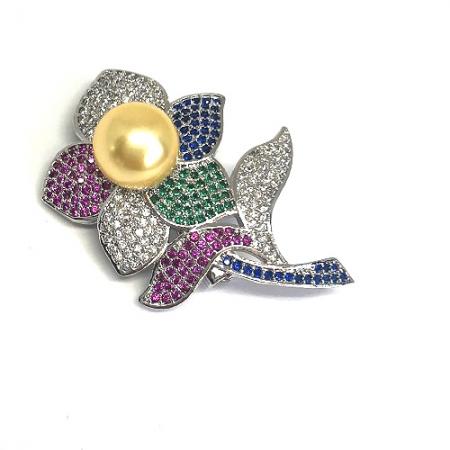 Broşă Pearl Flower Gold [0]