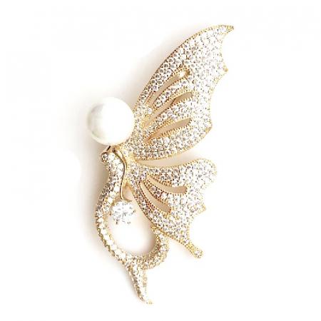 Broşă Butterfly Glam Gold [2]