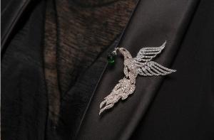 Broşă Eagle Emerald Drop by Borealy1